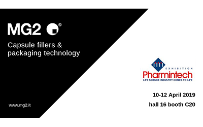 Packaging, processing and containment solutions: MG2 at Pharmintech 2019